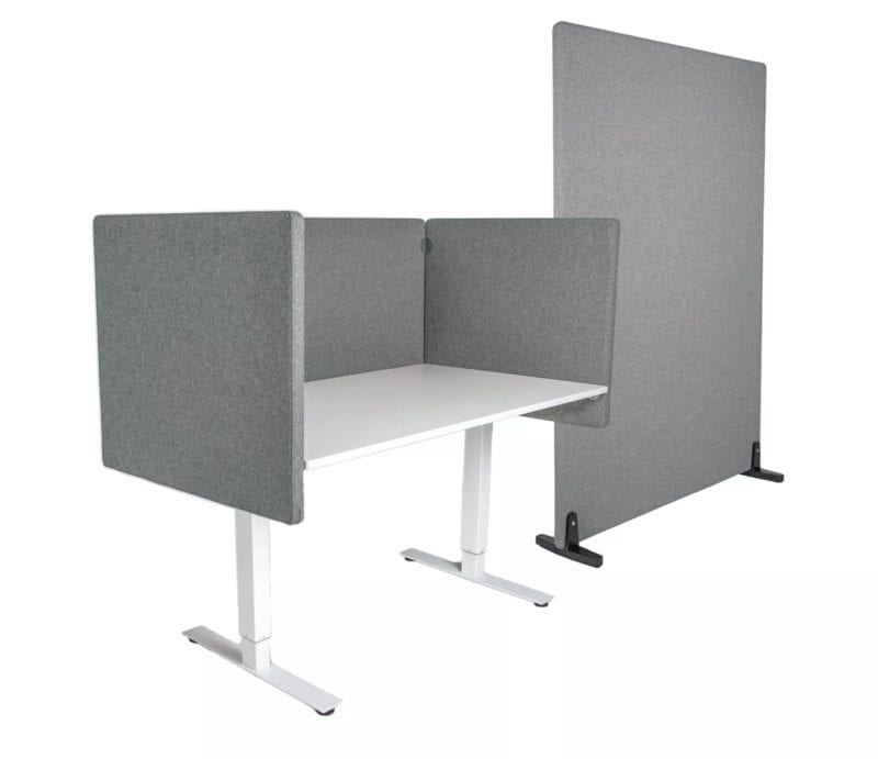 Äänieristesermi, pöytäseinäke, lattiaseinäke